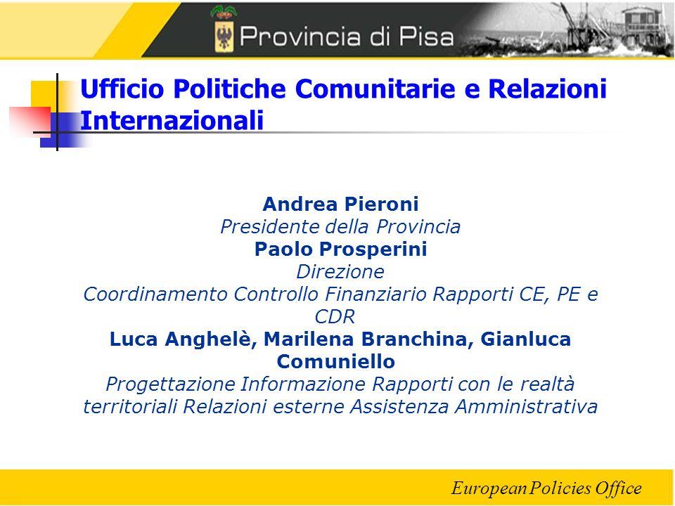 Ufficio Politiche Comunitarie e Relazioni Internazionali
