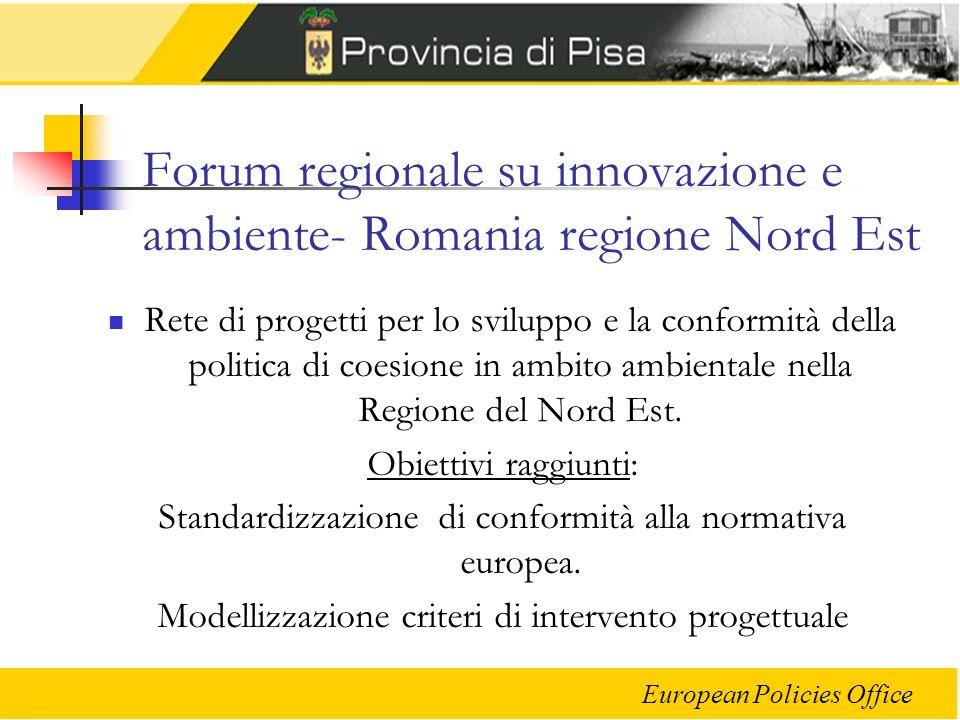 Forum regionale su innovazione e ambiente- Romania regione Nord Est