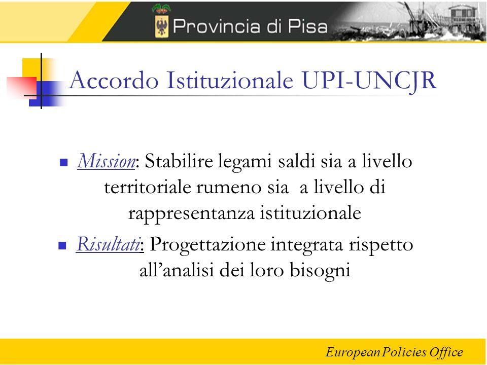 Accordo Istituzionale UPI-UNCJR