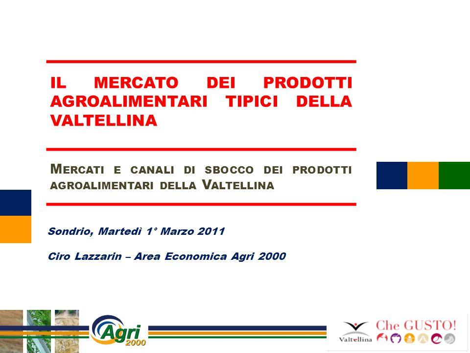 Il mercato dei prodotti agroalimentari tipici della Valtellina