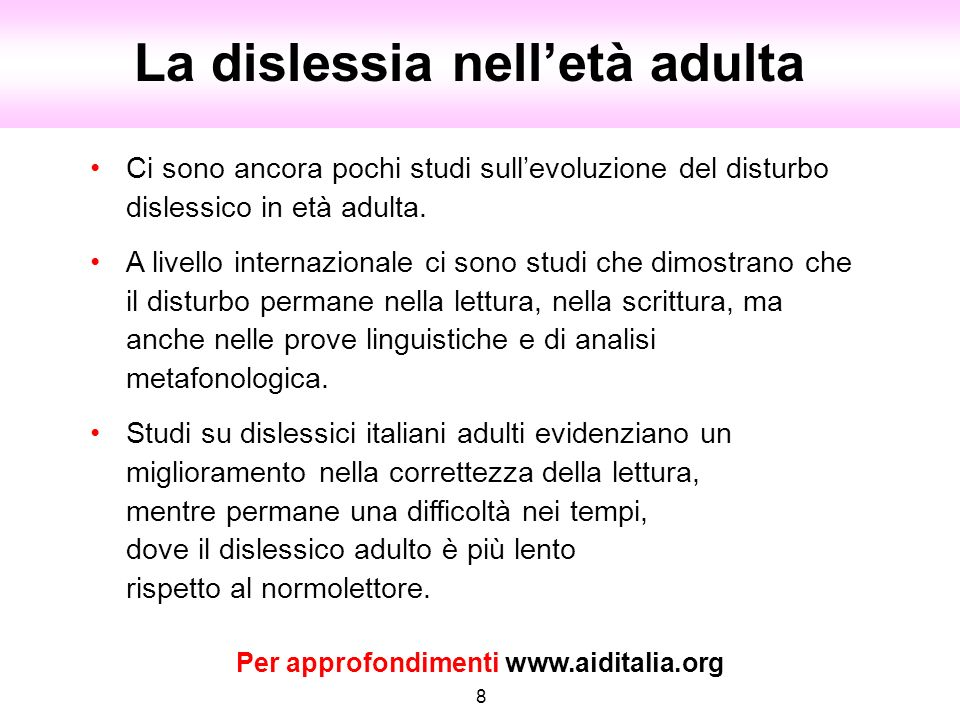 Per approfondimenti www.aiditalia.org