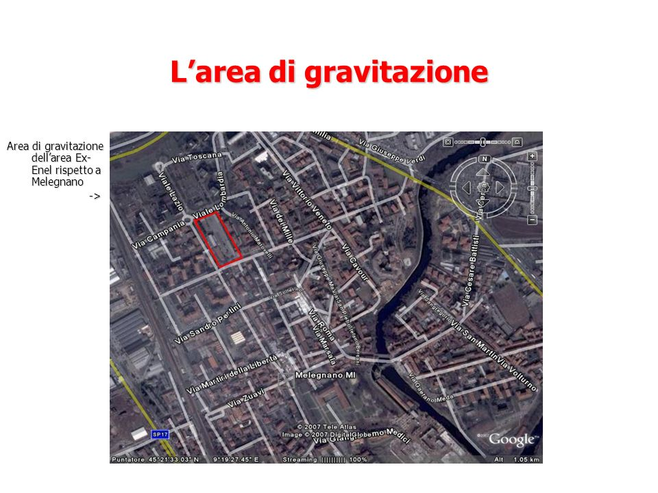 L'area di gravitazione
