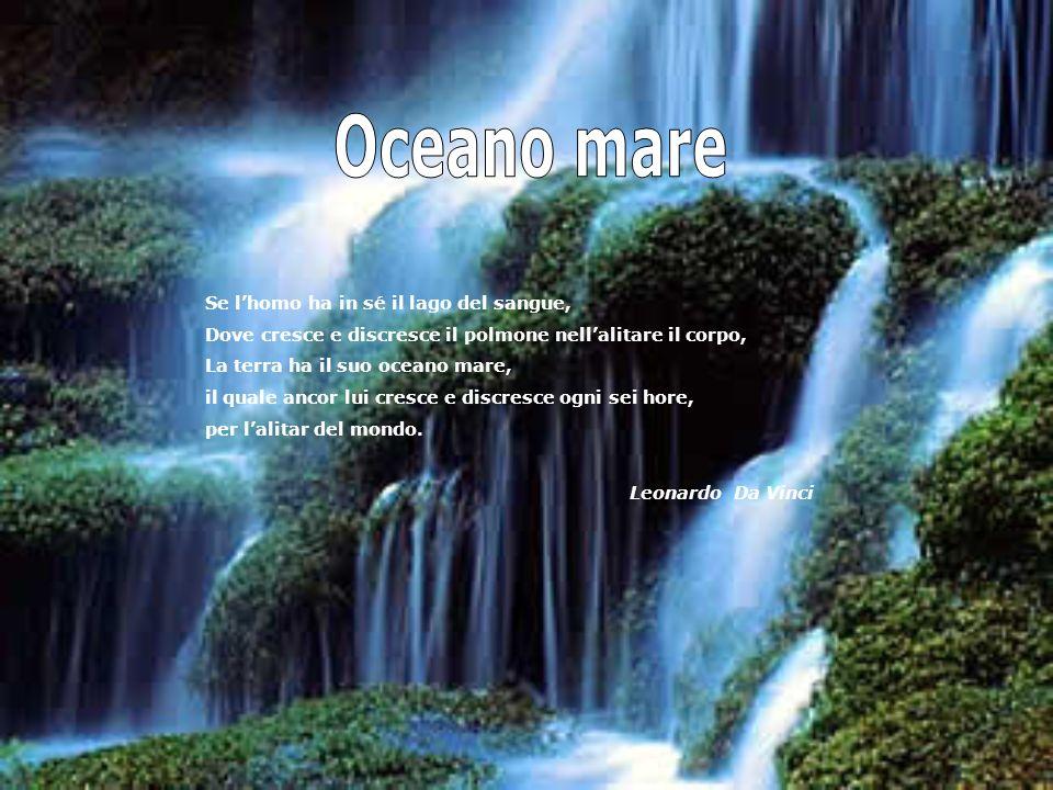 Oceano mare Se l'homo ha in sé il lago del sangue,
