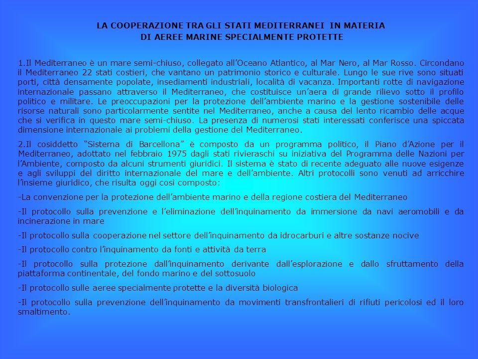 LA COOPERAZIONE TRA GLI STATI MEDITERRANEI IN MATERIA