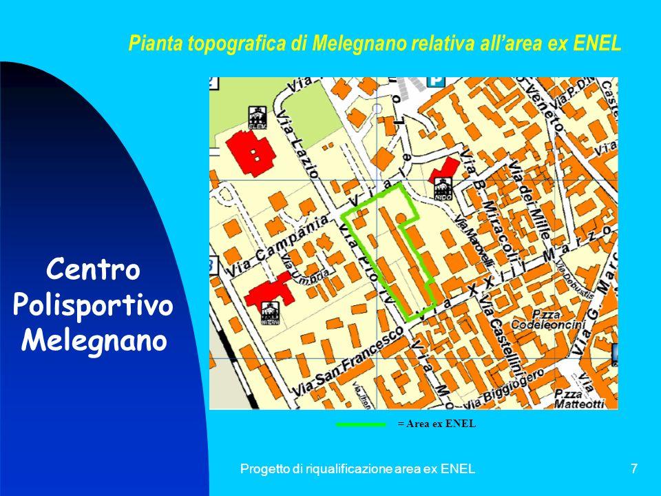 Pianta topografica di Melegnano relativa all'area ex ENEL