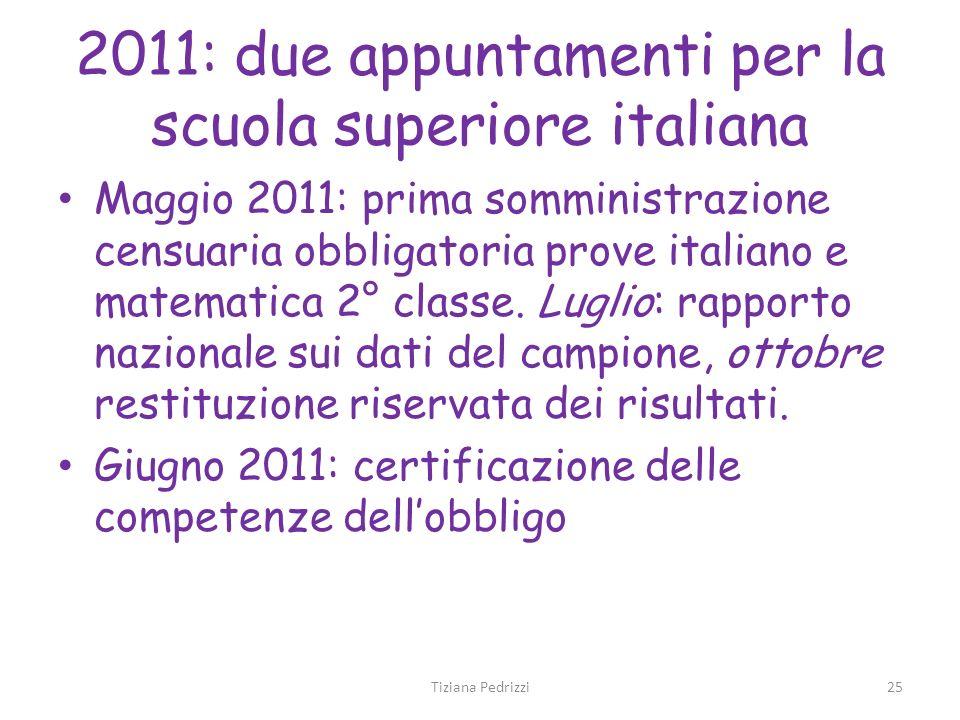 2011: due appuntamenti per la scuola superiore italiana
