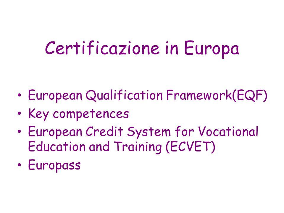 Certificazione in Europa