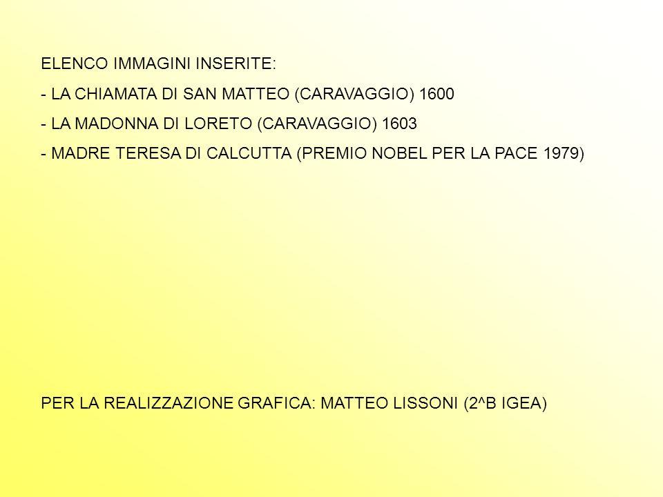 ELENCO IMMAGINI INSERITE: