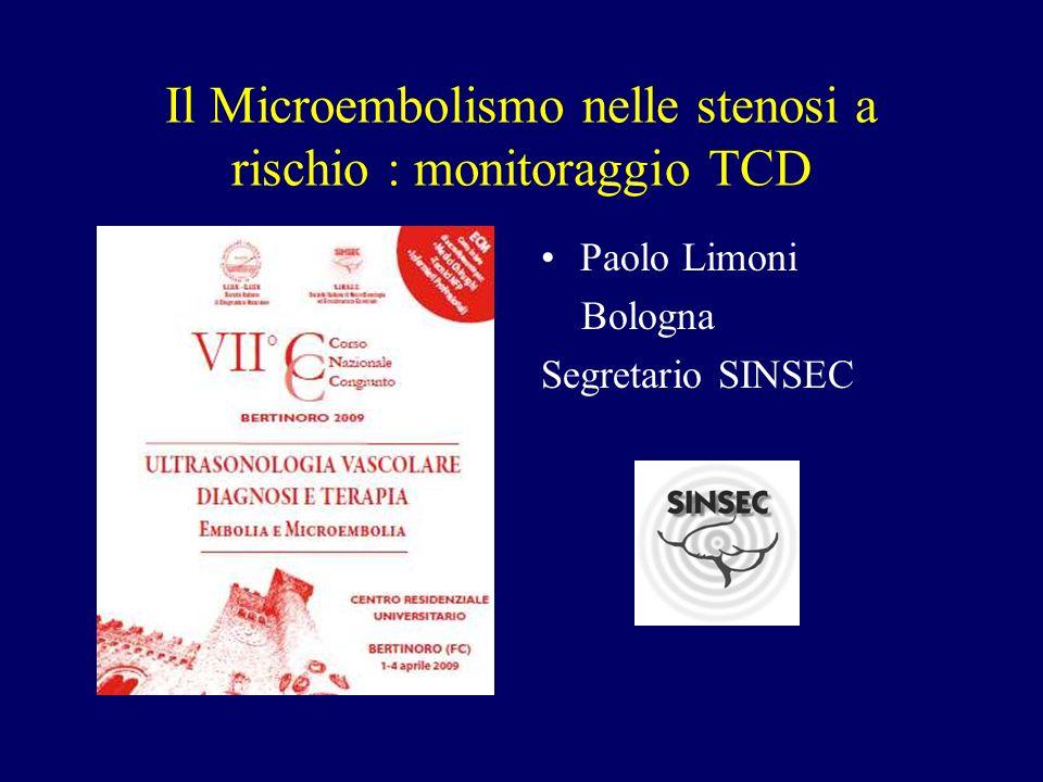 Il Microembolismo nelle stenosi a rischio : monitoraggio TCD