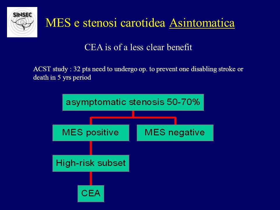 MES e stenosi carotidea Asintomatica