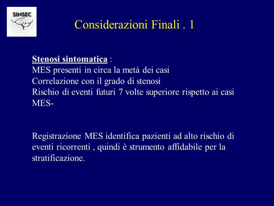 Considerazioni Finali . 1
