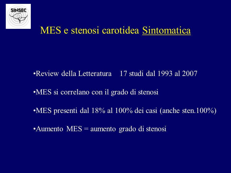 MES e stenosi carotidea Sintomatica