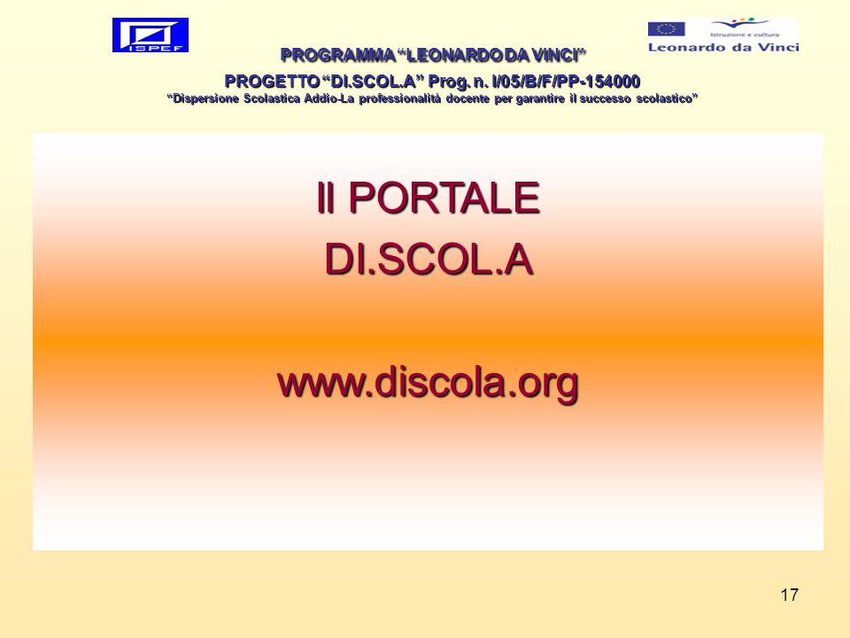 Il PORTALE DI.SCOL.A www.discola.org