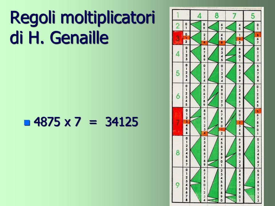 Regoli moltiplicatori di H. Genaille