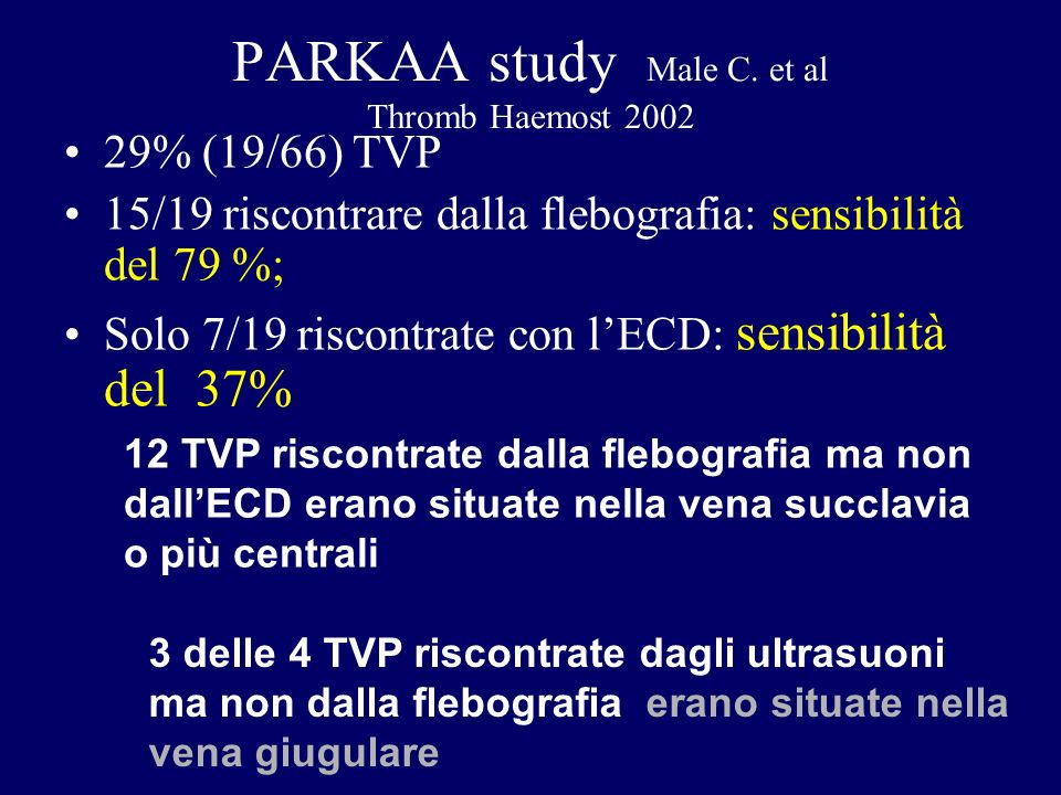 PARKAA study Male C. et al Thromb Haemost 2002