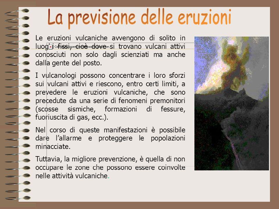 La previsione delle eruzioni