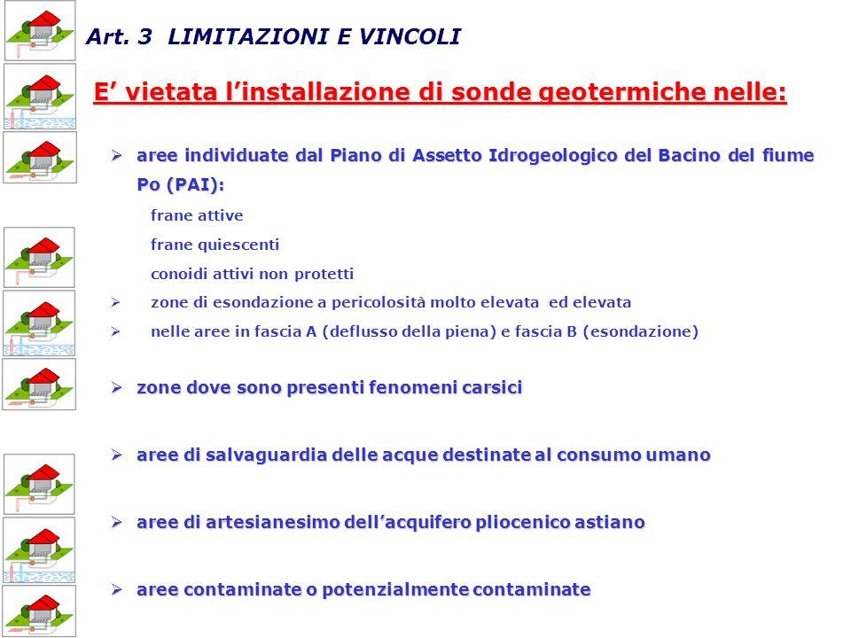 Art. 3 LIMITAZIONI E VINCOLI