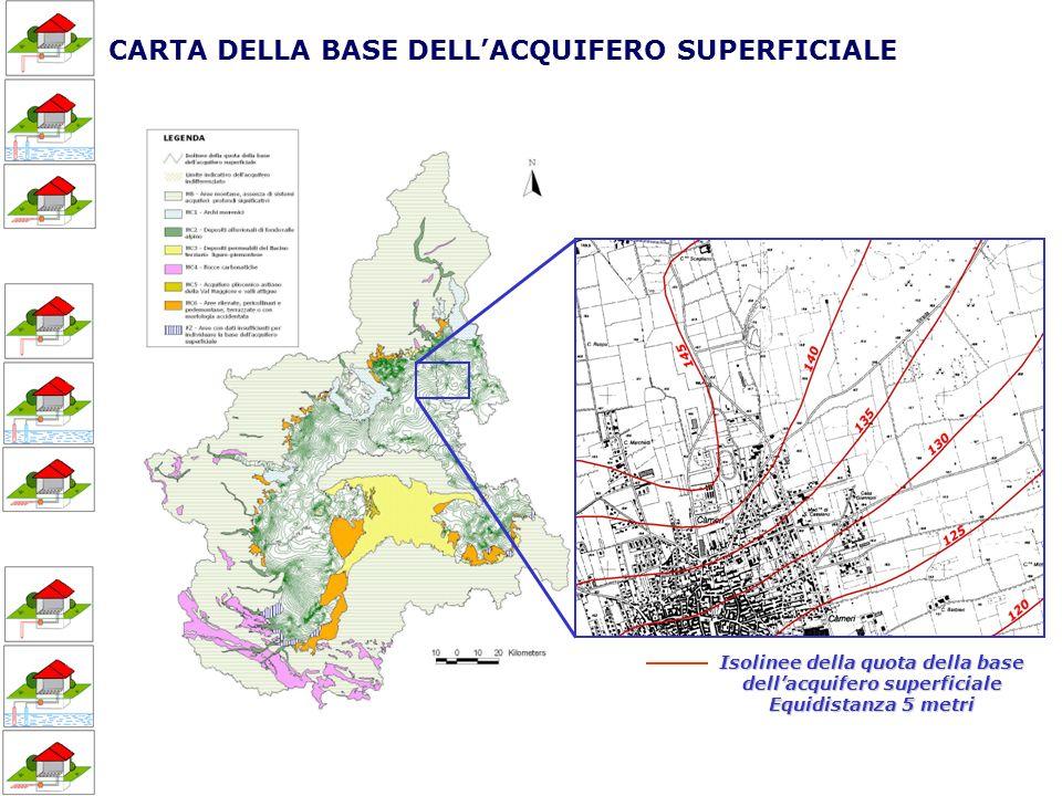CARTA DELLA BASE DELL'ACQUIFERO SUPERFICIALE