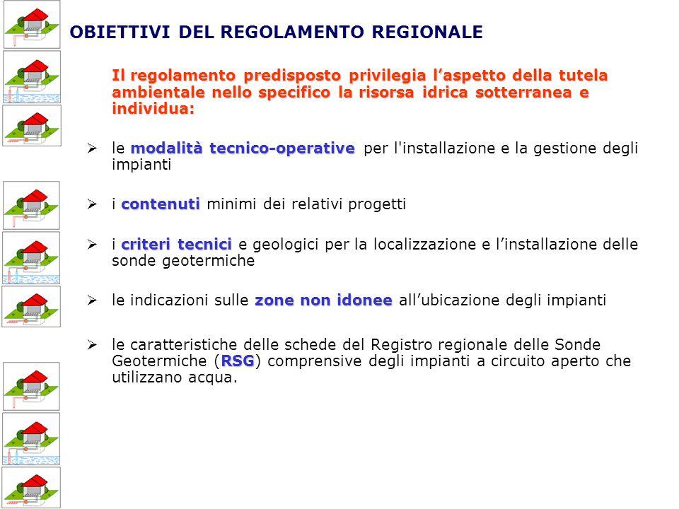 OBIETTIVI DEL REGOLAMENTO REGIONALE