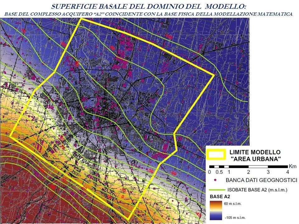 SUPERFICIE BASALE DEL DOMINIO DEL MODELLO: