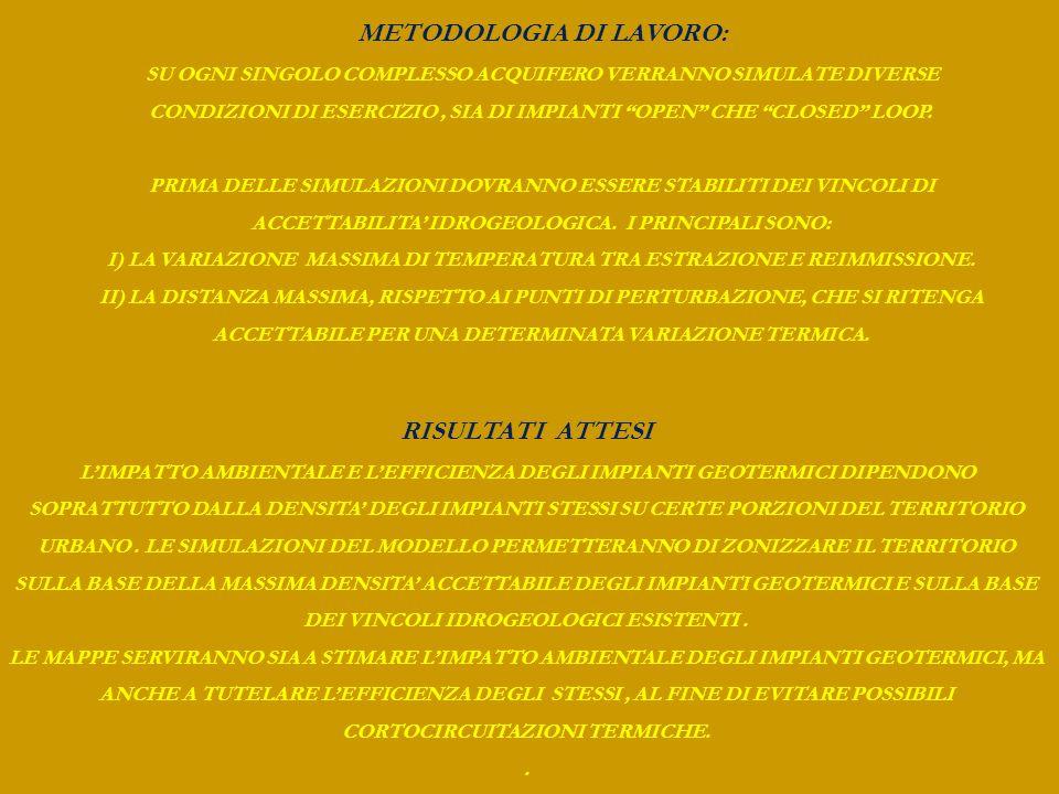 METODOLOGIA DI LAVORO: RISULTATI ATTESI