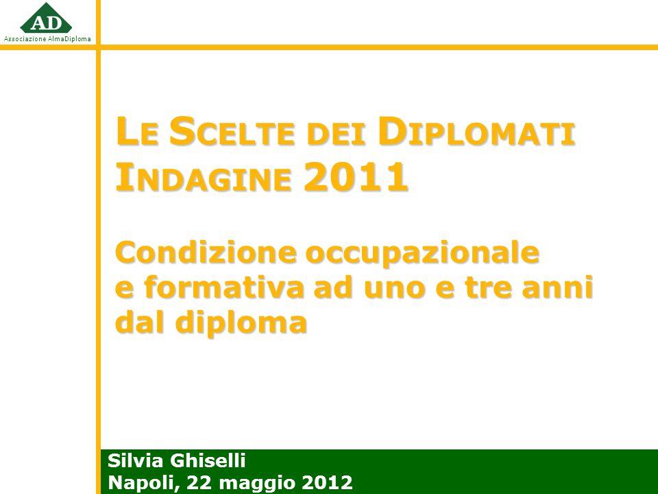 LE SCELTE DEI DIPLOMATI INDAGINE 2011 Condizione occupazionale e formativa ad uno e tre anni dal diploma