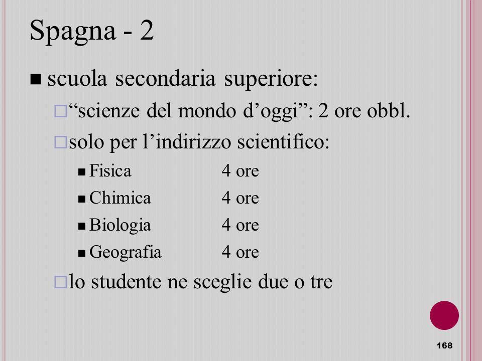 Spagna - 2 scuola secondaria superiore: