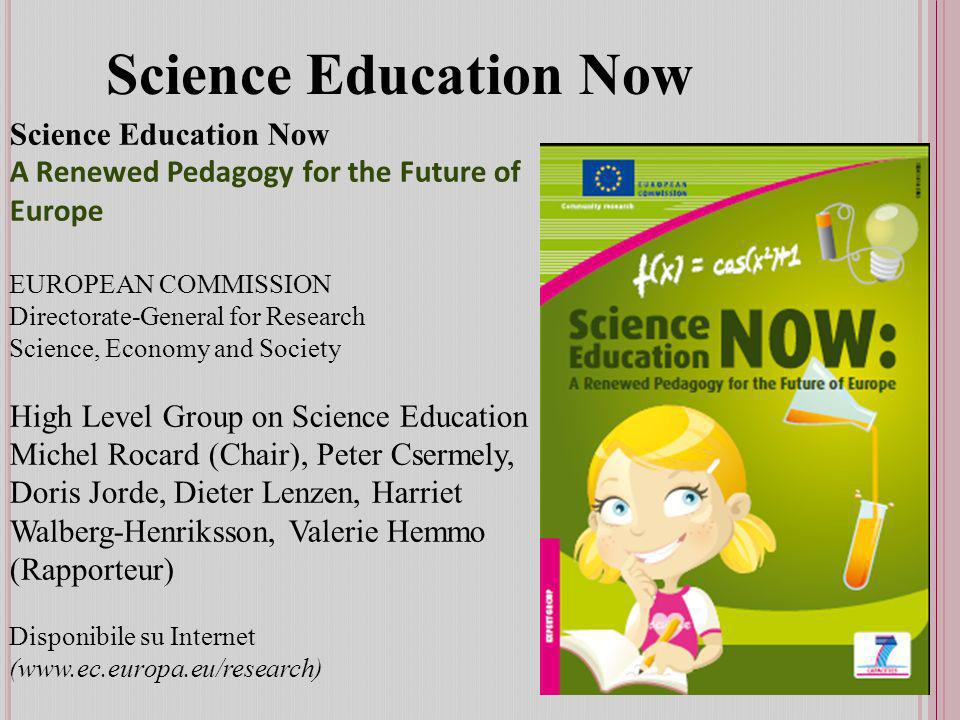 Science Education Now Science Education Now