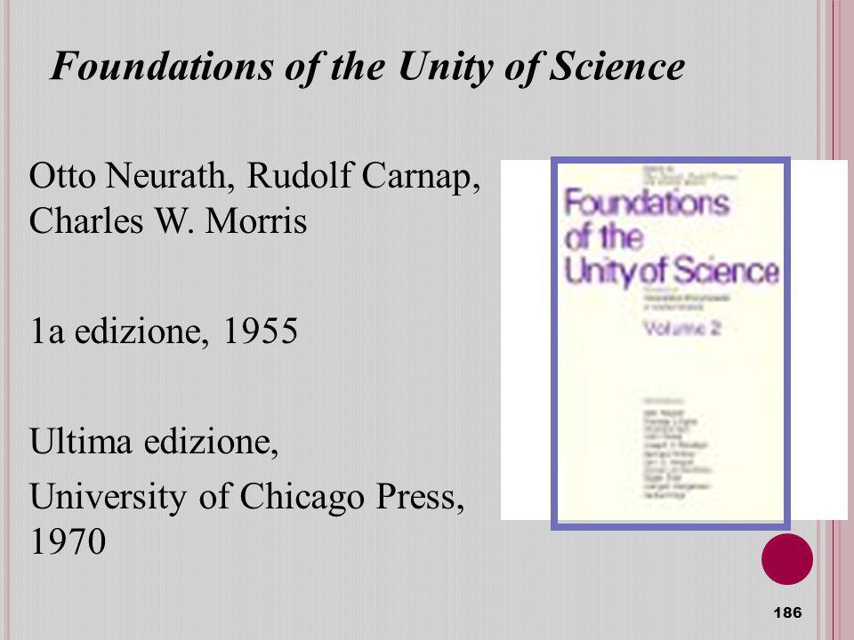 Foundations of the Unity of Science