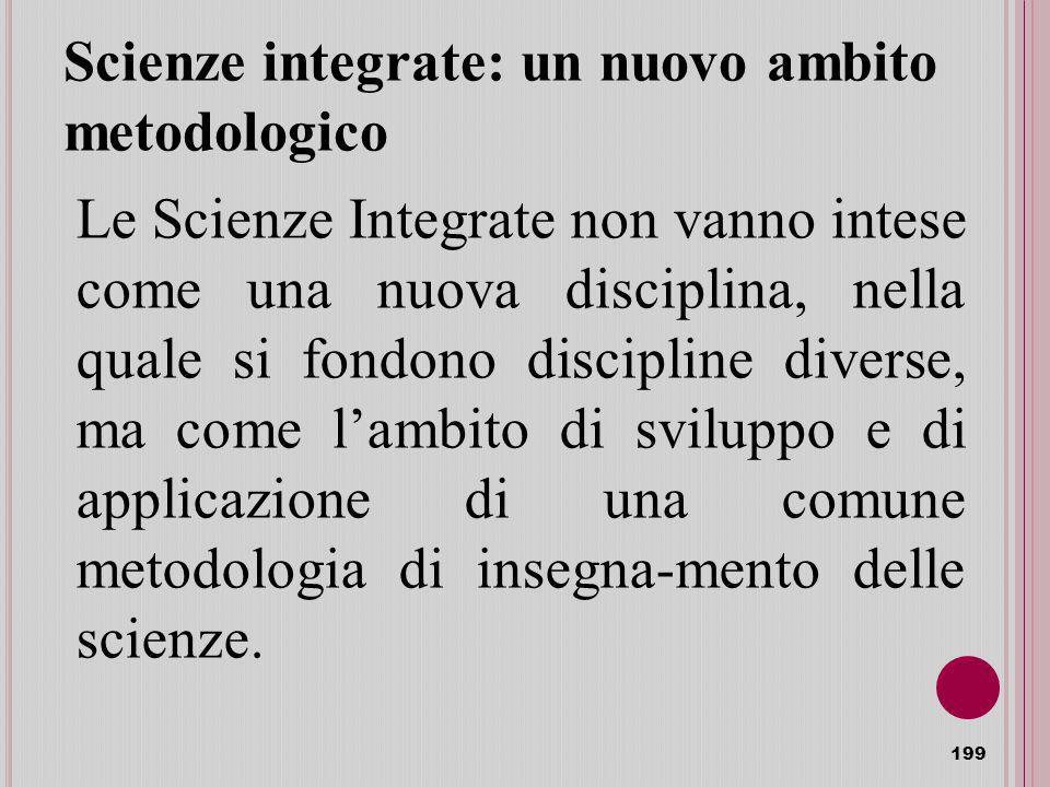 Scienze integrate: un nuovo ambito metodologico