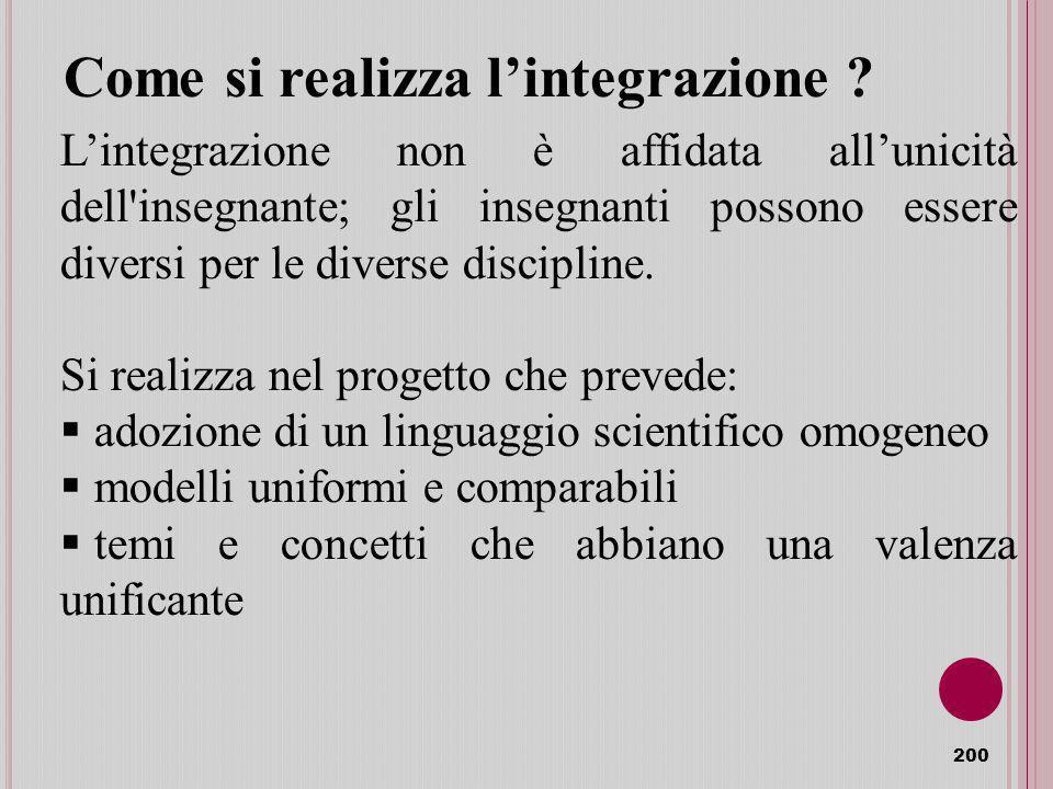 Come si realizza l'integrazione