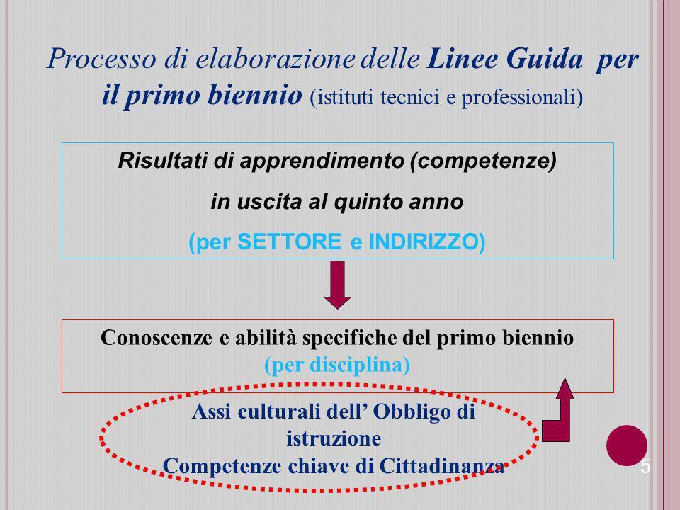Processo di elaborazione delle Linee Guida per il primo biennio (istituti tecnici e professionali)