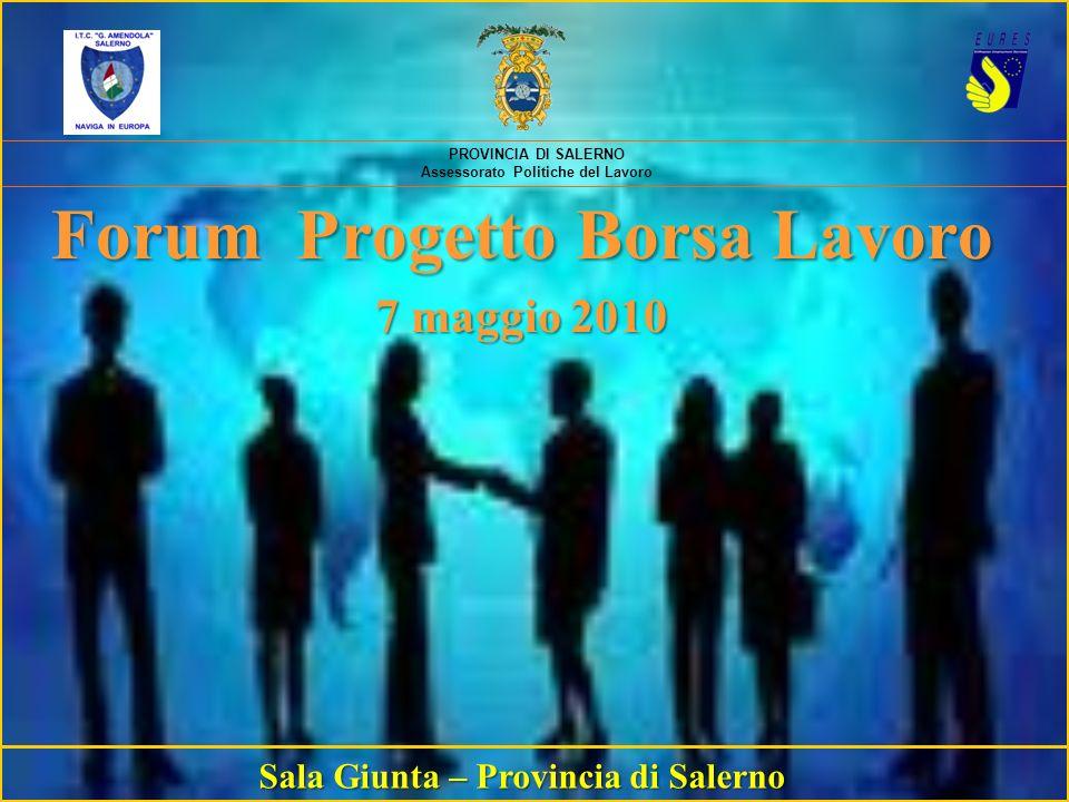 Forum Progetto Borsa Lavoro Sala Giunta – Provincia di Salerno