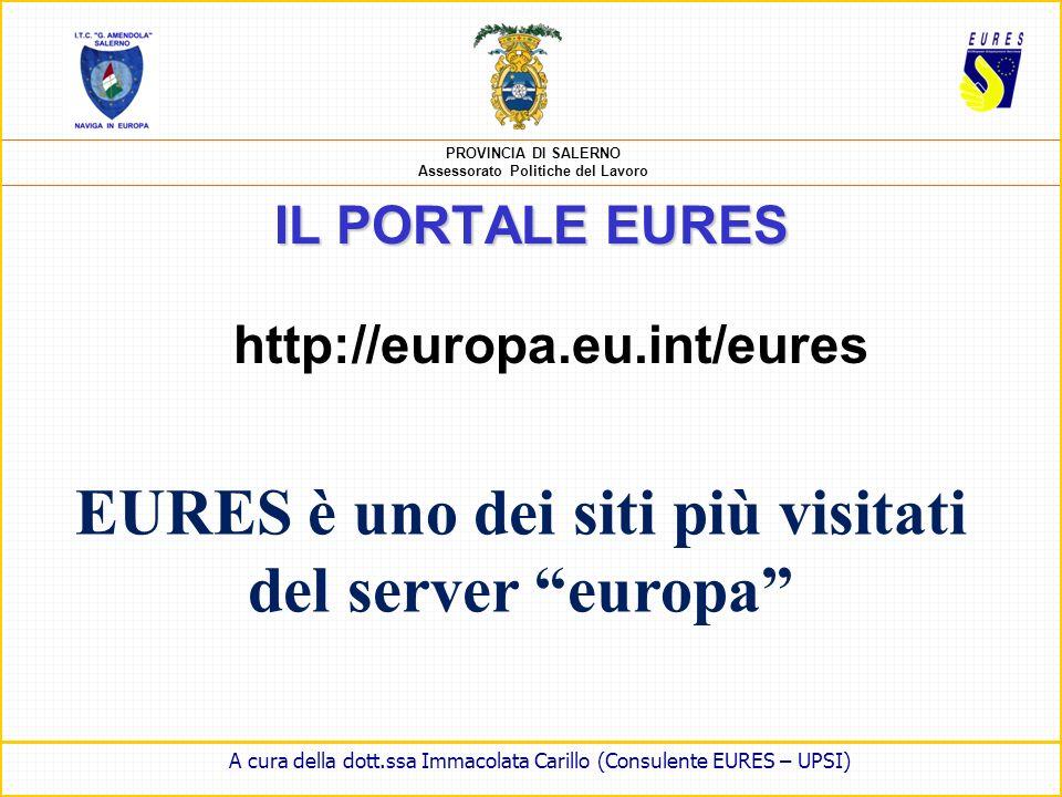 EURES è uno dei siti più visitati del server europa