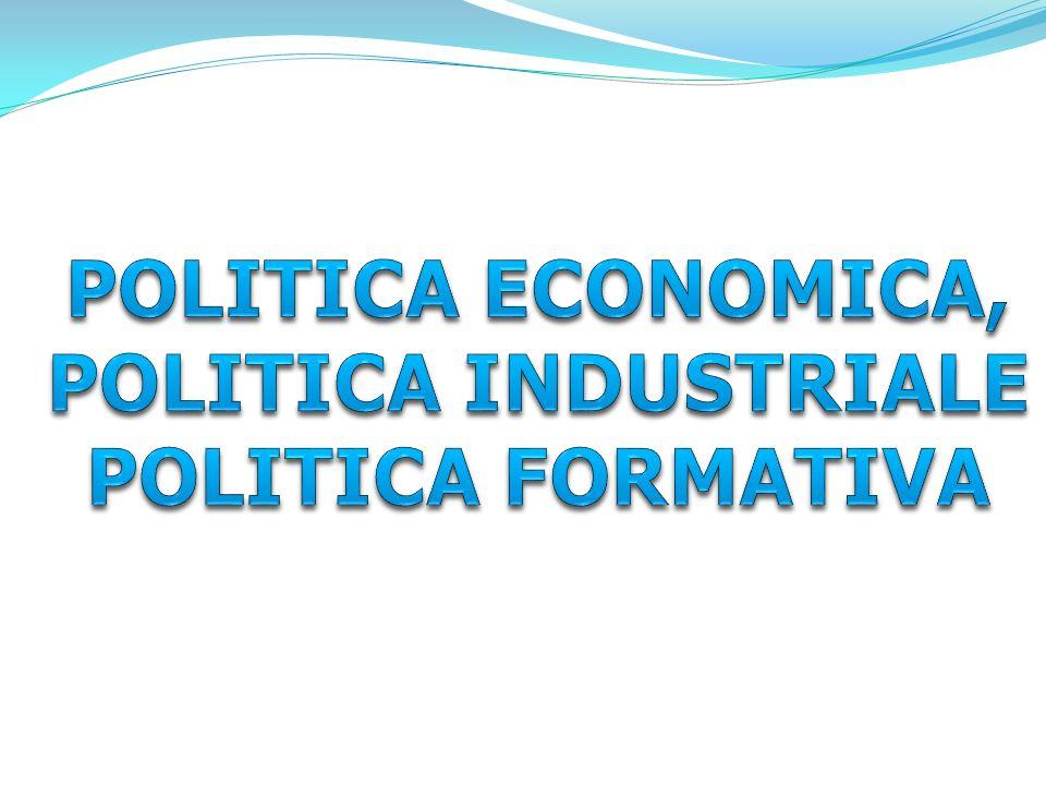 POLITICA ECONOMICA, POLITICA INDUSTRIALE POLITICA FORMATIVA