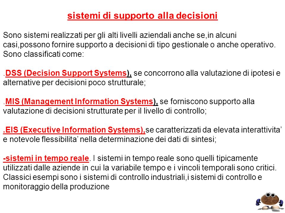 sistemi di supporto alla decisioni