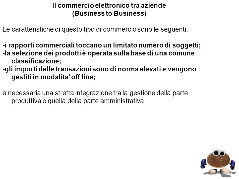 Il commercio elettronico tra aziende (Business to Business)