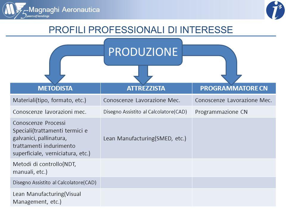 PROFILI PROFESSIONALI DI INTERESSE