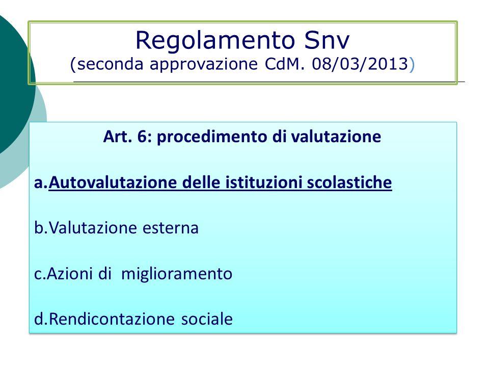 Art. 6: procedimento di valutazione