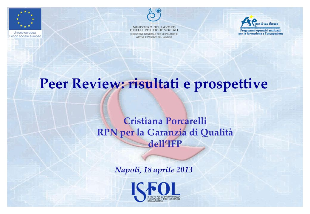 Peer Review: risultati e prospettive