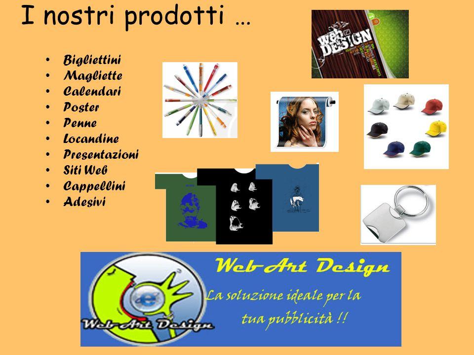 I nostri prodotti … Bigliettini Magliette Calendari Poster Penne