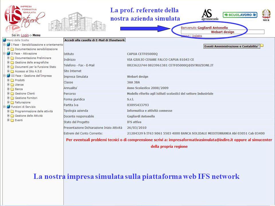 La nostra impresa simulata sulla piattaforma web IFS network