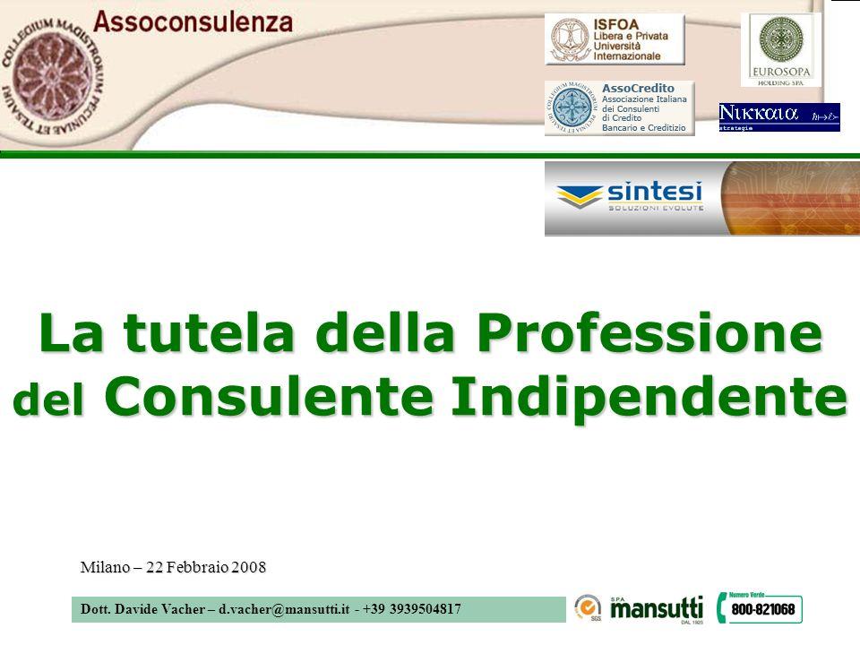 La tutela della Professione del Consulente Indipendente