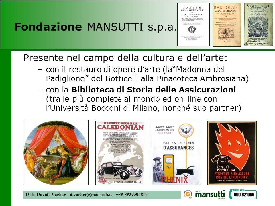 Fondazione MANSUTTI s.p.a.