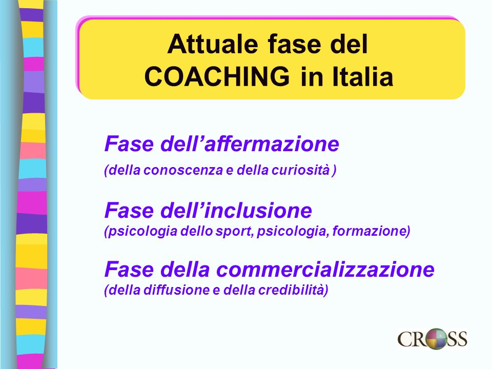 Attuale fase del COACHING in Italia