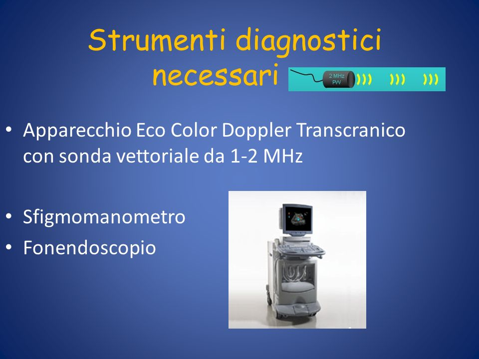 Strumenti diagnostici necessari