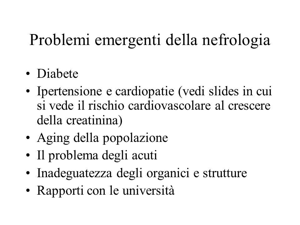 Problemi emergenti della nefrologia