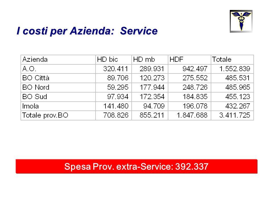 I costi per Azienda: Service