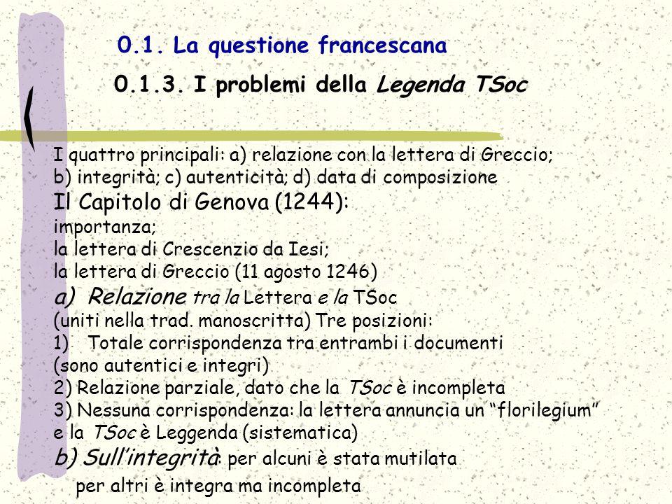 0.1. La questione francescana