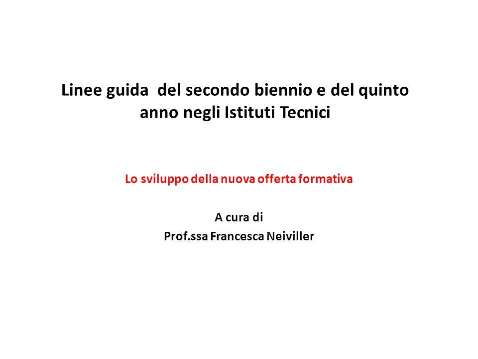 Lo sviluppo della nuova offerta formativa Prof.ssa Francesca Neiviller